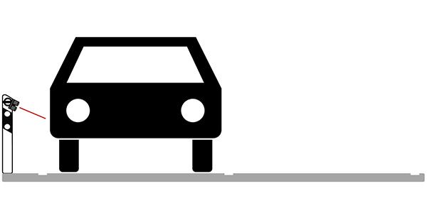 Vehicle being detected by a lidar sensor